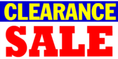 Clearance Red Sale Banner