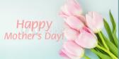 Happy Moms Day Flower Banner