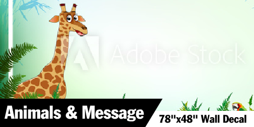Giraffe With Space for Custom Message Decal