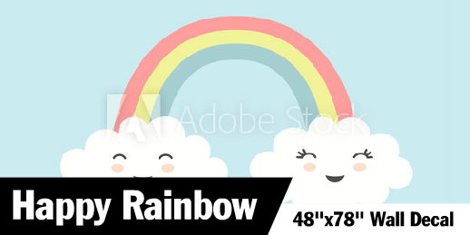 Rainbow Above The Clouds Wall Decal