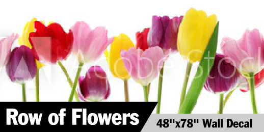 Row of Flowers Wall Border Decal