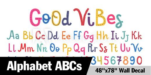 Good Vibes ABC Alphabet Wall Decal
