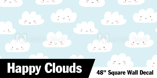 Happy Clouds Wall Decals