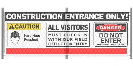5x12 Construction Entrance Graphic