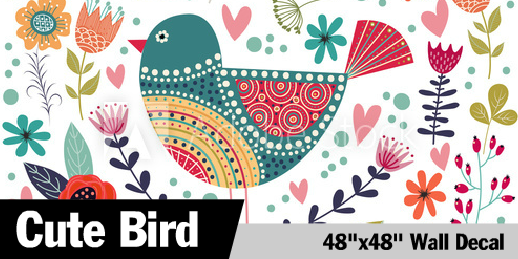 Square Birds Wall Decals