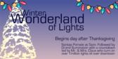 Winter Light Show Sign