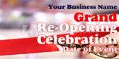 Grand Re-Open Celebration Banner