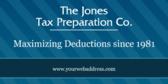 The Jones Tax Preparation Co