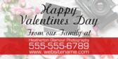 valentine day yard sign template