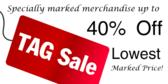 Tag Sale 40%