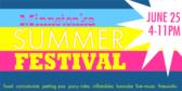 Pastel Summer Festival Sign