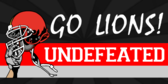 Undefeated Football Team Banner Design