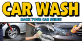 Car Cleaning Photo Snapshots Banner Design