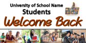 More Welcome Students Back To School Signs