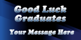 Good Luck College Graduates Text Only Banner