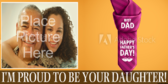 On Father's Day I'm Proud To Be Your Daughter Banner