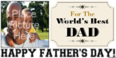 Father's Day World's Best Dad Banner