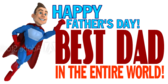 Happy Father's Day best dad in the world banner