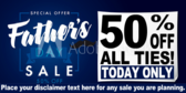 percent off Fathers Day Sale Banner