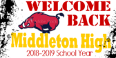 Welcome School Students Sign
