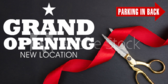 New Location Opening Banner