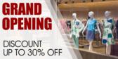 Grand Open Discount Banner
