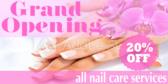 Opening Salon Nail Banner