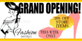 Opening Boutique Banner