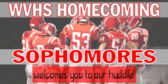 school homecoming sign