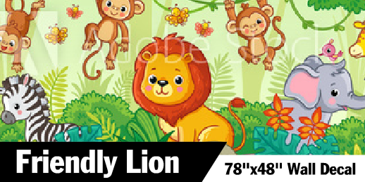 Friendly Lion Kids Decal