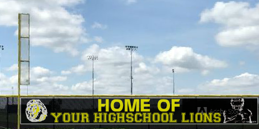 5x50 Home of Your School Football Team Fence Banner
