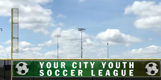 5x50 City Youth League Soccer Fence Banner