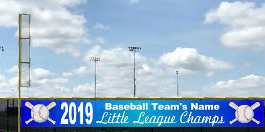 5x50 Little League Baseball Champions Announcement Banner