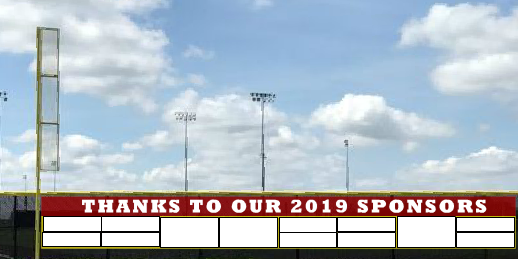 5x50 Team Sponsors Fence Banner