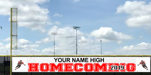 5x50 High School Homecoming Fence Banner