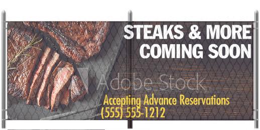 5x12 Restaurant Steak Graphic