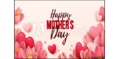 Happy Mothers Day Hearts Yard Sign