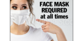 Face Mask Required Photo Sign