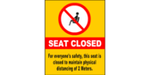 More Seating Restriction Social Distance Signs