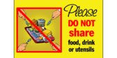 Do Not Share Cafeteria Food Or Drink Sign