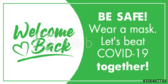COVID-19 Welcome Back To School Banner