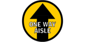 One Way Walking Circle Designed Hall Floor Graphic