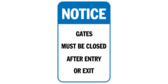 caution automatic gate sign template