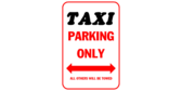 taxi parking only sign template