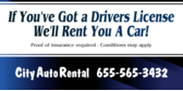 car rental banner sign template