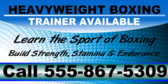 boxing club yard sign template
