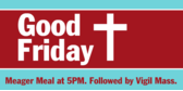 good Friday banner sign template