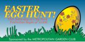 Easter egg hunt banner sign template