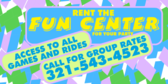 rent the fun center banner sign template