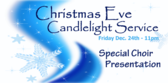 Christmas eve candlelight service banner sign template